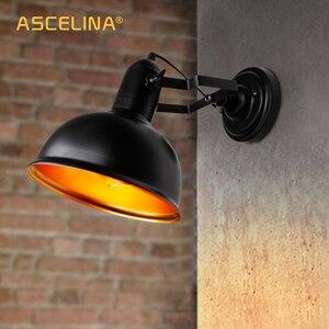 Image 4 - Wand lampe, Industrielle vintage wand licht, Eisen Retro leuchte, Halterung einstellbar, E27, CE zertifizierung, 90 260 V, max 60 W, 16x21,5 cm (DxA)