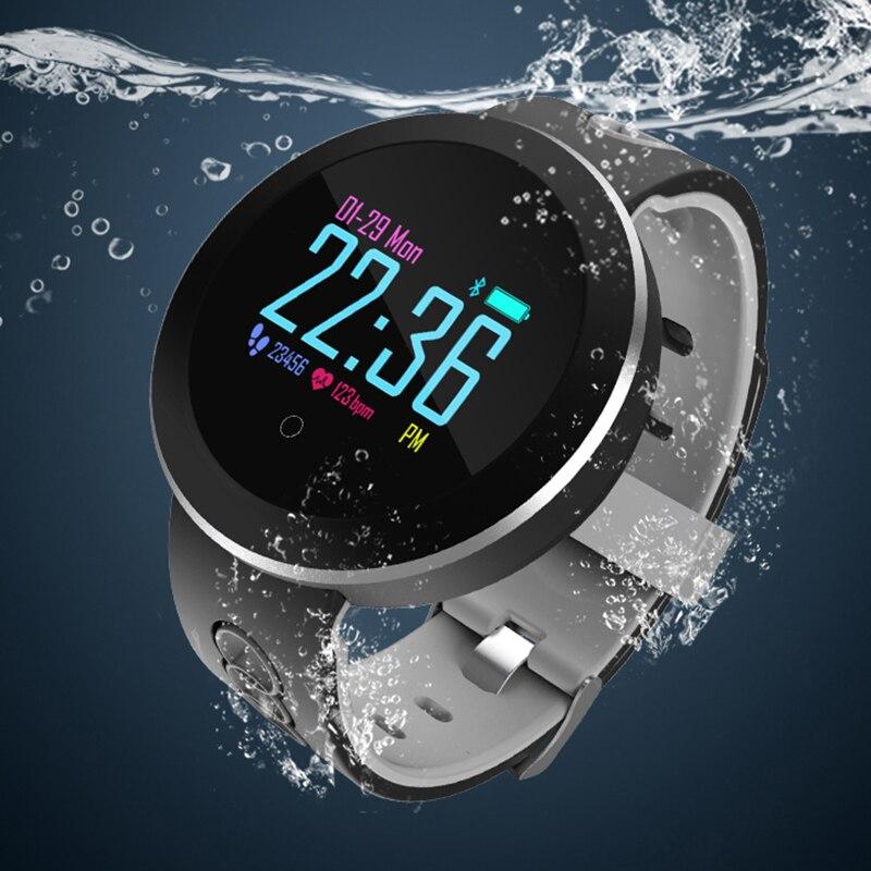 EntrüCkung 2018 Smart Wasserdichte Uhr Herren Uhr Fitness Tracker Bluetooth Herzfrequenz Sport Uhren Für Männer Mode Ios Android Saat Herrenuhren