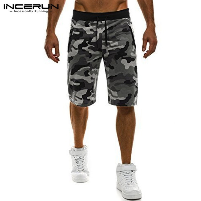 Camouflage Men's Shorts Loose Calf Length Sweatpants  3