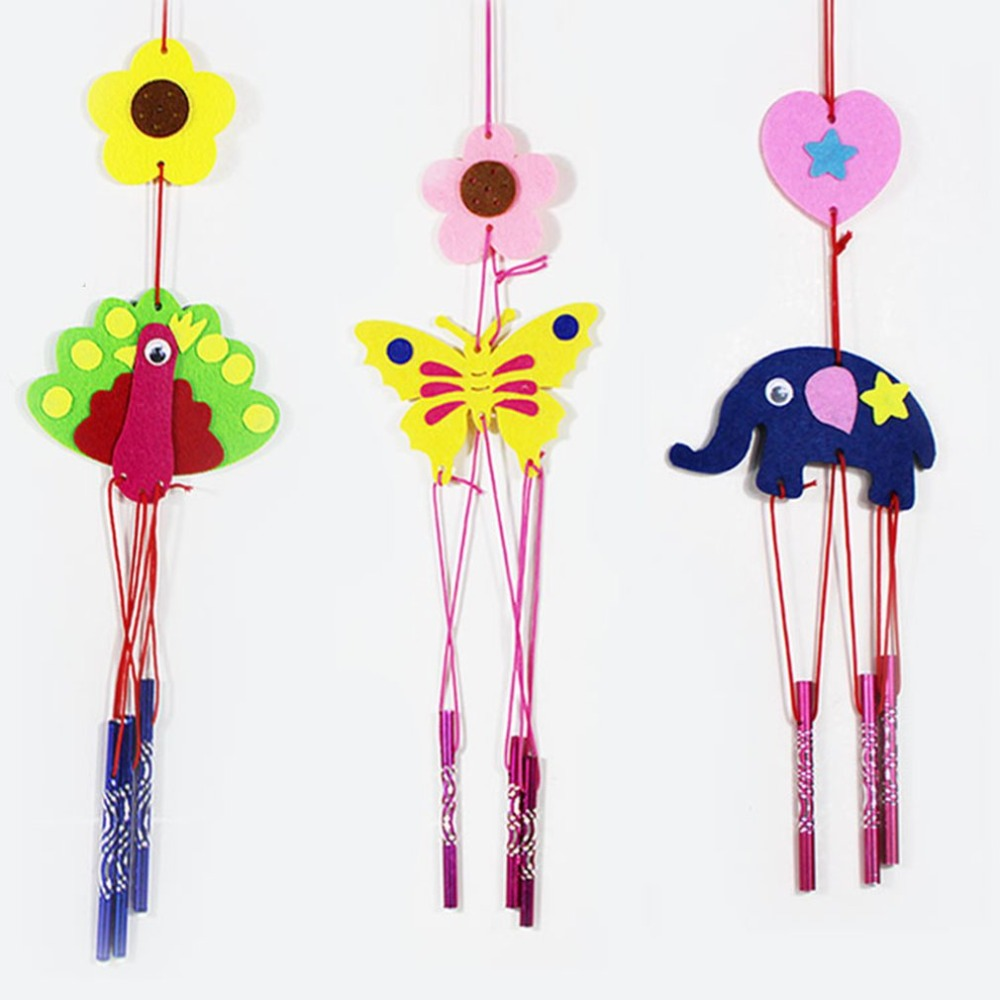 Children:  1PCS Children DIY Wind Chime Creative Interactive Toy Nonwoven fabric Handmade Intelligence Crafts Art Toys Class Tool Kid Gift - Martin's & Co