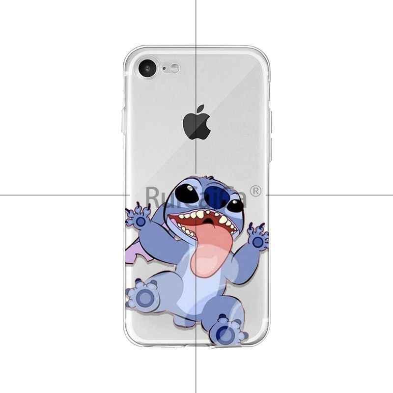 Ruicaica bonito dos desenhos animados Lilo Ponto DIY Acessórios Do Telefone Caso Pintado para o iphone X XS MAX 6 6 s 7 7 além de 8 8 Plus 5 5S SE XR