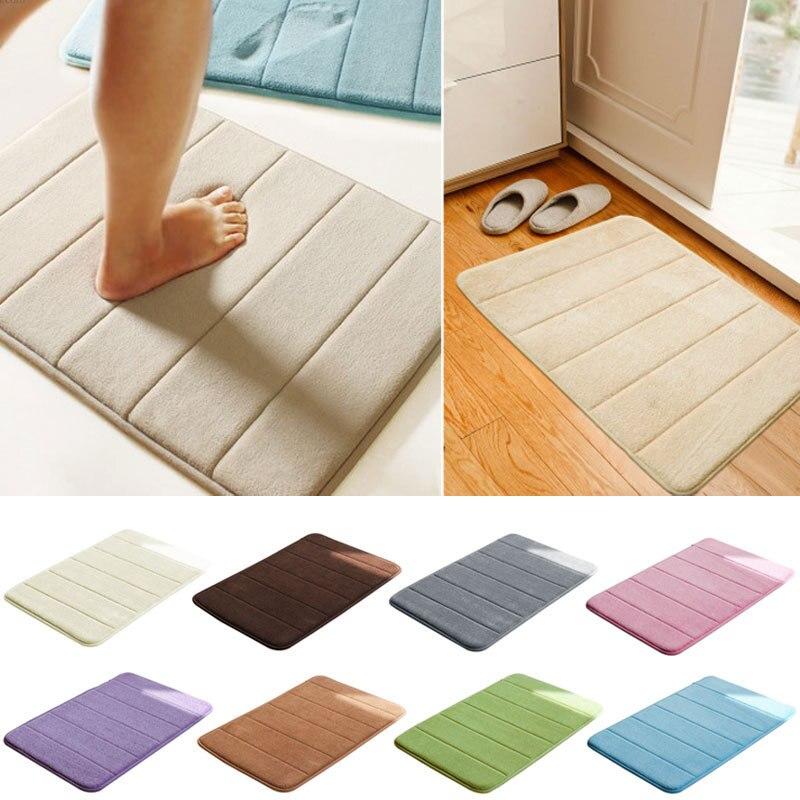 2015 Hot Sale Memory Foam Bath Mats Bathroom Horizontal Stripes Rug Non Slip Bath Mats Y1-in