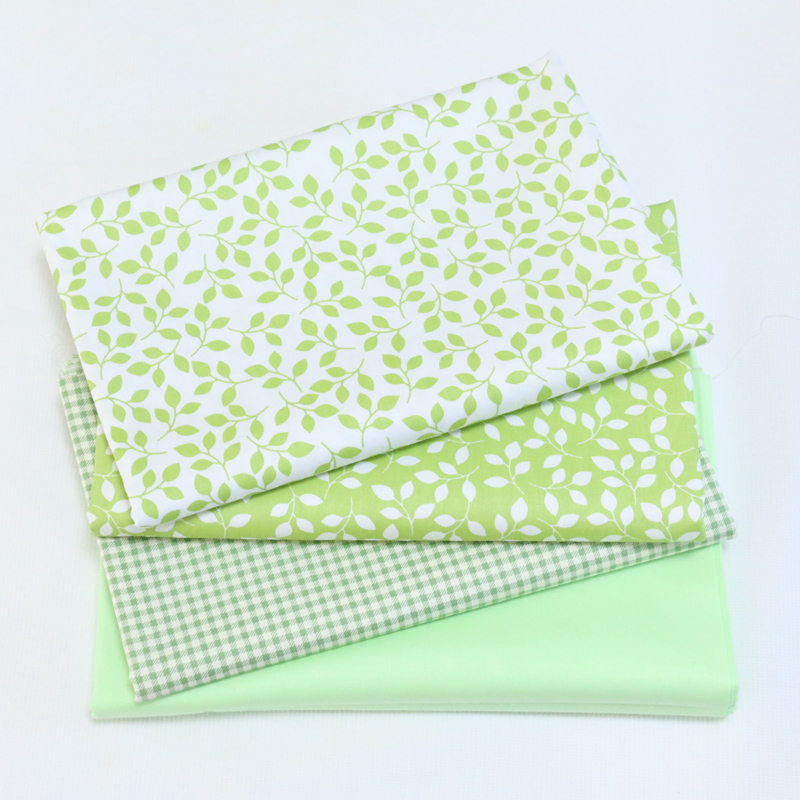 By Meter Printed Green Series cotton Twill Fabric for DIY Sewing Bed Sheet Dress Making Material For Baby&Child