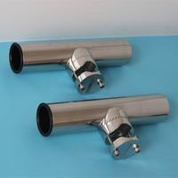 2pcs Rod Holder Marine Stainless Steel Clamp On Fishing Rod Holder Adjustable For 7 8 1