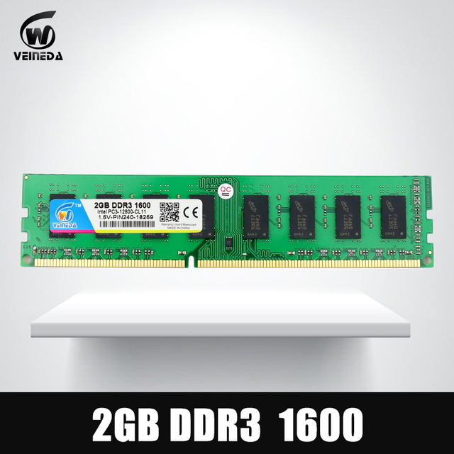 New Brand Memory Ram 2 gb ddr3 1066Mhz dimm ram ddr 3 2gb PC3-8500 for Intel And AMD Desktop motherboard