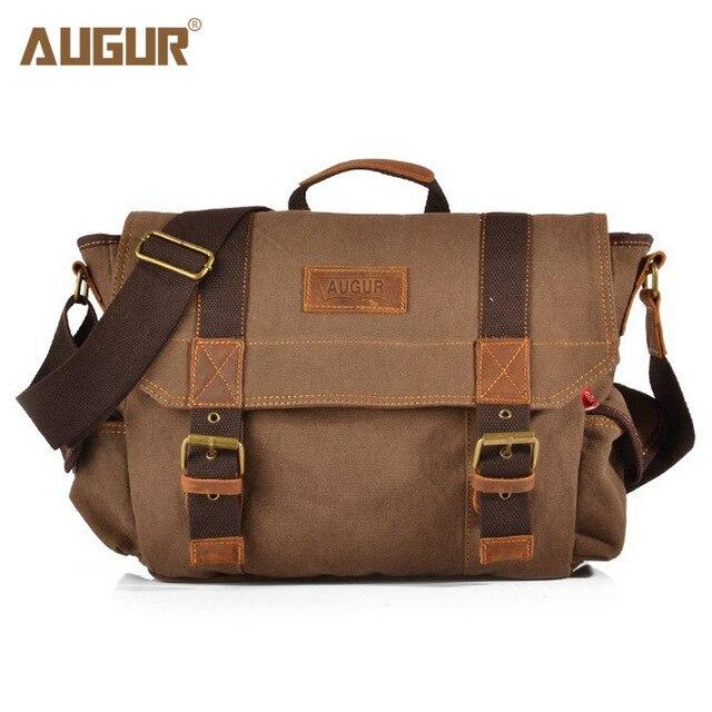 Augur Vintage Men Messenger Bags Canvas Crossbody Bag Luxury Brand Man Shoulder For Designer