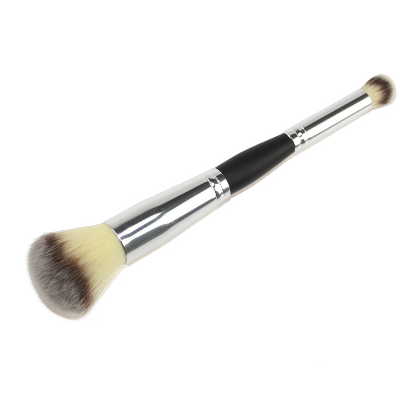 Double-head Foundation Brushes Powder Eyeshadow Blush Brushes Face Makeup Tool Pincel Maquiagem Wood Handle