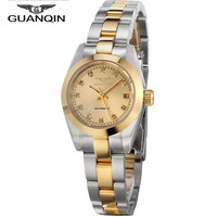 2016 New GUANQIN To Brand Luxury Watch Women Automatic Watch Waterproof Diamond Gold Women Watches relogio feminino