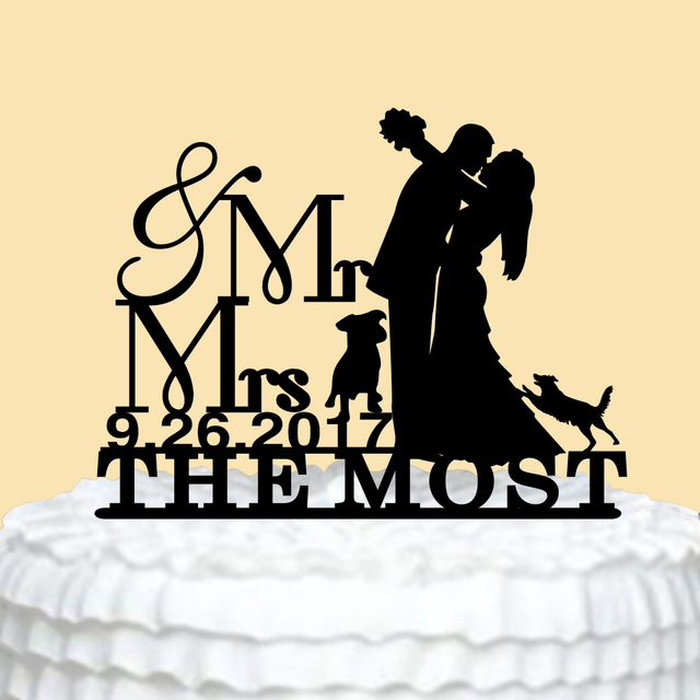 Personalized Mr & Mr Wedding Cake Topper, Cake Design for Wedding ...