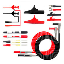 цена на 22Pcs Multimeter Auto Test Accessory Set Lead Cable Alligator Clip Probe Kit Instrument Parts Accessories