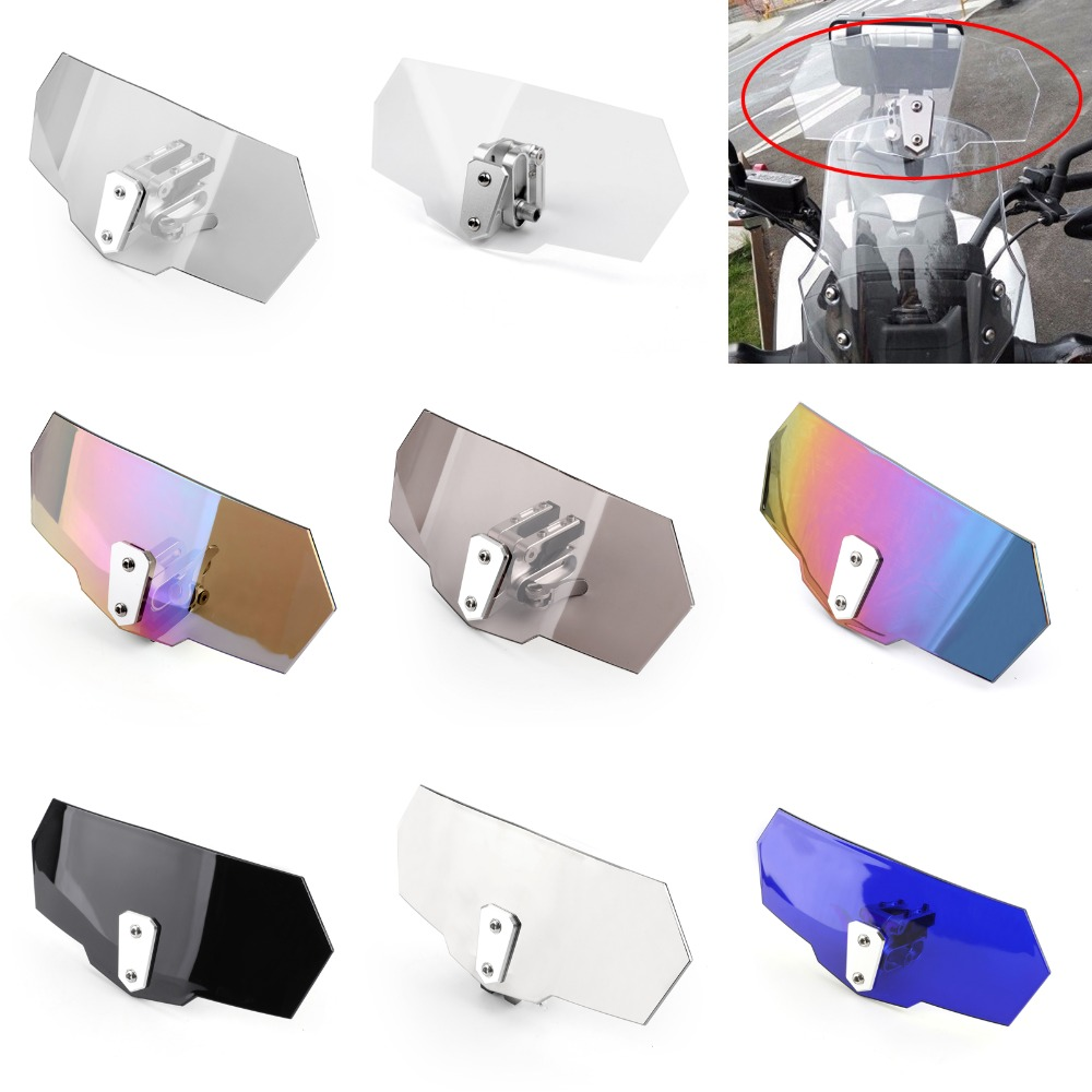 Areyourshop Universal Adjustable Windshield Screen Extension Deflector For Honda For Yamaha Moto Spoiler Wind Deflector