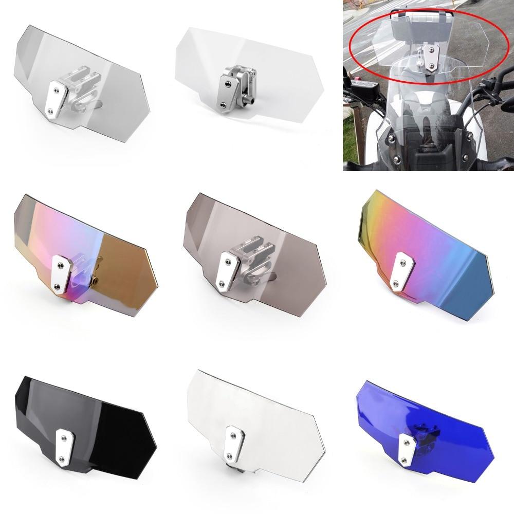 Areyourshop Universal Adjustable Windshield Screen Extension Deflector For Honda For Yamaha Moto Spoiler Wind Deflector