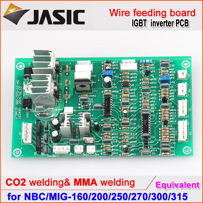 NBC MIG 250,270 wire feeding control circuit board for jasic gas shielded welding machine mig wire feeder motor 76zy02a dc24v 18m min for mig welding machine