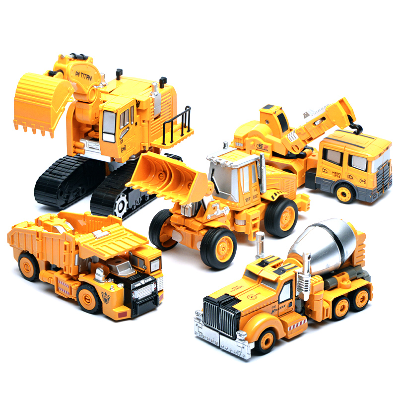 1psc Movie&TV Deformed toy engineering car Model of excavator crane alloy robot model Figure Toy Right Thigh Action Figure Toys