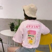 2017 летнее японское письмо милые свежие простые мягкие хлопковые женские футболки с коротким рукавом в консервативном стиле