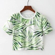 Harajuku Summer T Shirt Women New Arrivals Fashion Rainbow Black Feather Bamboo Leaves Print T-shirt Woman Casual Tees Tops