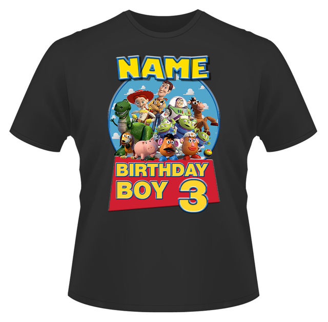 ab9365965ca11 US $12.28 12% OFF Toy Story Birthday Personalised Boys Girls T Shirt Age 3  Ideal Gift/Present New T Shirts Funny Tops Tee New Unisex Funny Tops-in ...