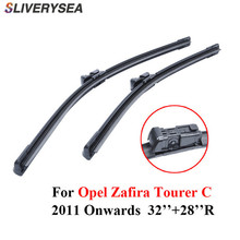 Professional Pair Windscreen Wiper Blades For Opel Zafira Tourer C 2011 Onwards 32''+28''R Natural Rubber Car Accessories plastic tail blades for r c helicopter 450 v2 v3 pair