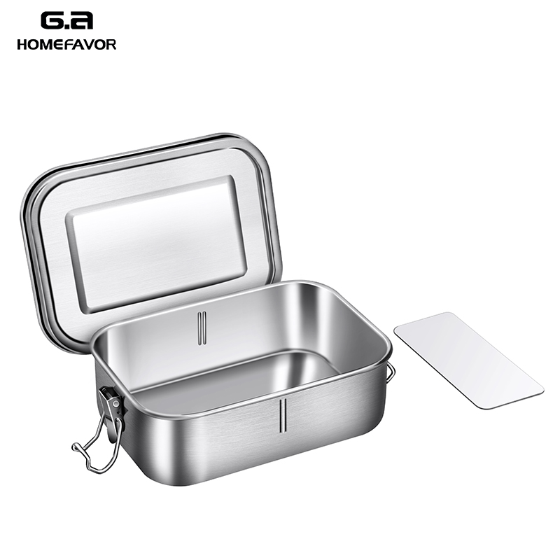 Top 304 Stainless Steel Bento Lunch Box With Silicone Sealing Ring Removable Separation Blade Preservation Leakproof Container in Lunch Boxes from Home Garden