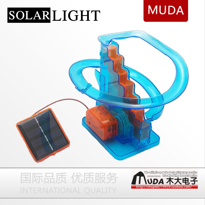 Free Ship Novelty Educational toy Solar Power Roller Coaster Toys For Kids, children toys DIY toys,kids gifts