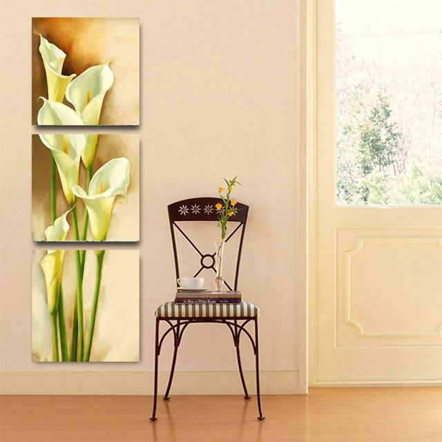 Calla Lily Flowers 3 Panels Modern Artwork Canvas Prints Pictures ...