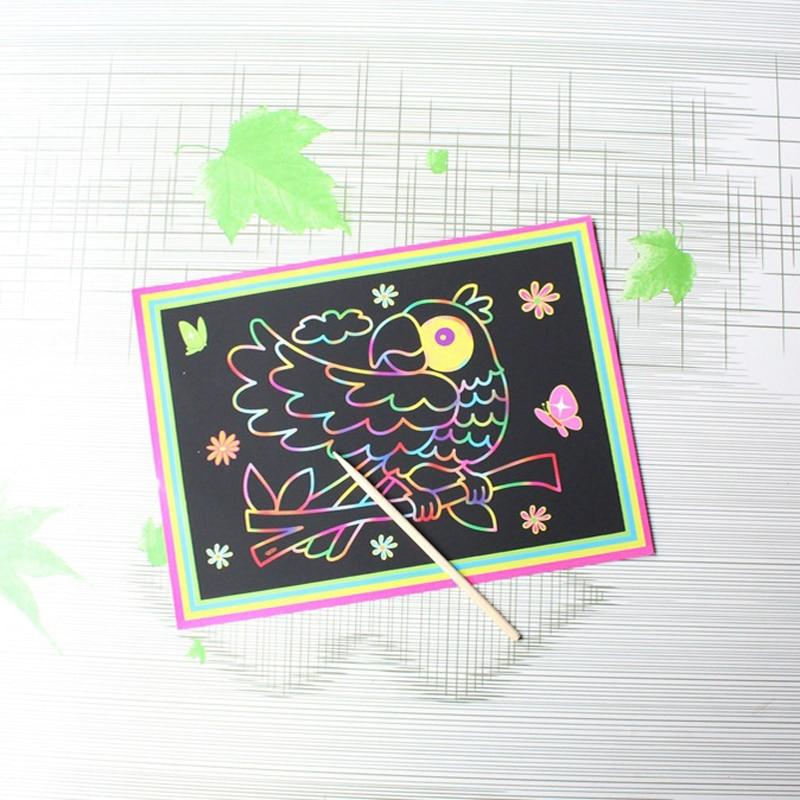 Magic Painting Paper Parrot