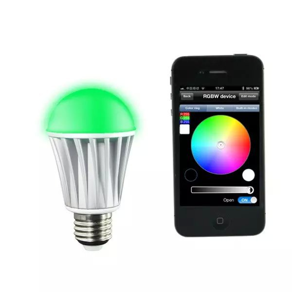 ZJ-WIFI-640;E27 WIFI RGB+Warm White LED Bulb;Dimmable Multicolored Color Changing WiFi LED Bulb
