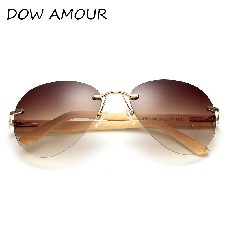 6a32e2a870794 Bamboo Wooden Aviator Sunglasses Men Women Handmade