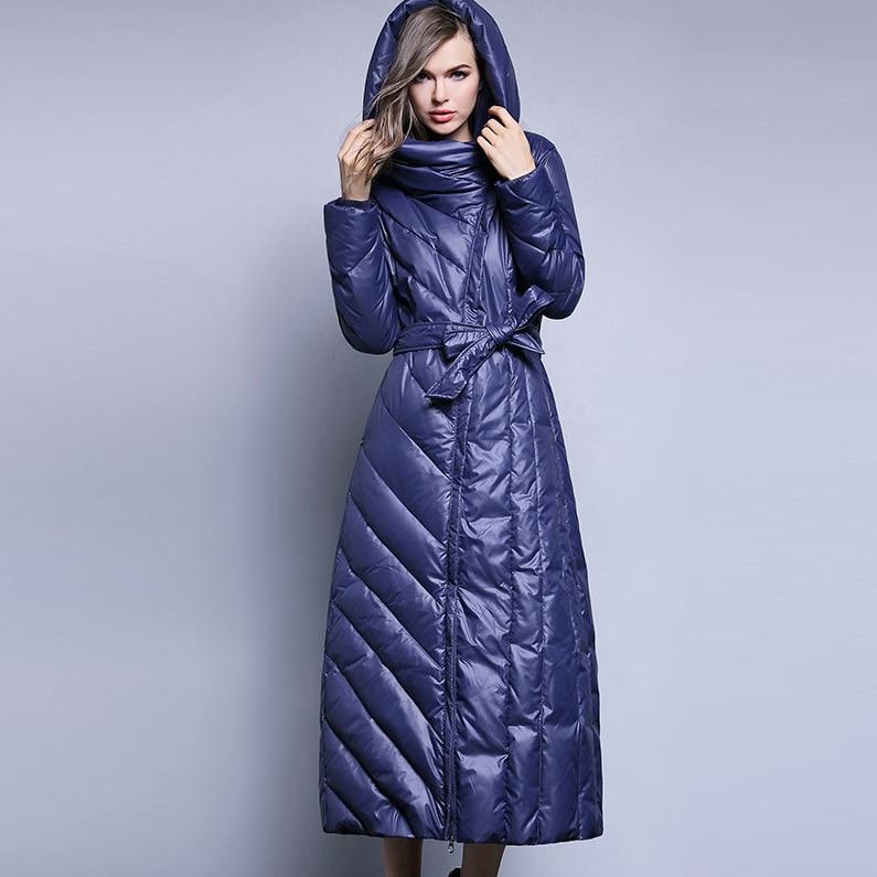 2019 Autumn Winter Long   Coat   Female Parka Plus Size White Duck   Down   Jacket Woman Hooded Winter Jacket Women PP059