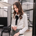 In the spring of 2017 new women's fashion magazine Philippines solid doll collar cardigan jacket all-match blouse 58026