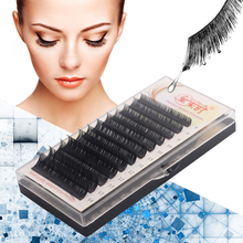 All Size B/C/D Curl Individual Mix Length Lashes Extension Korea Silk Volume Eyelash Extension 8--14mm Eye Lashes for Building genie shadow lashes individual lashes double curl and length faux mink fit for volume eyelash extension make up eye lashes