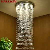 Современный Большой Размеры Кристалл Люстры Спираль Круглый кольцо лестницы Освещение приспособление для фойе отеля вилла