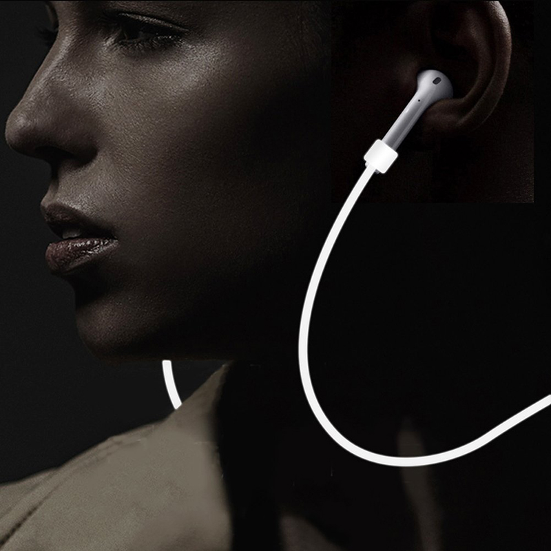 Image 3 - For Apple AirPods 2 Strap Earphone Accessory Anti Lost Headphone Strap for Apple Earphones Silicone String Rope for Air Pods-in Earphone Accessories from Consumer Electronics