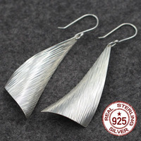 Thailand Imported 925 Pure Silver Wholesale Silver And Silver Vintage Striped Wire Drawing Of Women S