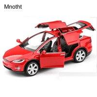 Tesla MODELX90 Mnotht 1:32 Modelos de Carro Com Som e Luz Puxar Para Trás As Crianças Brinquedos brinquedos Presentes Branco/Azul/Vermelho Modelo de Carro Diecast L65