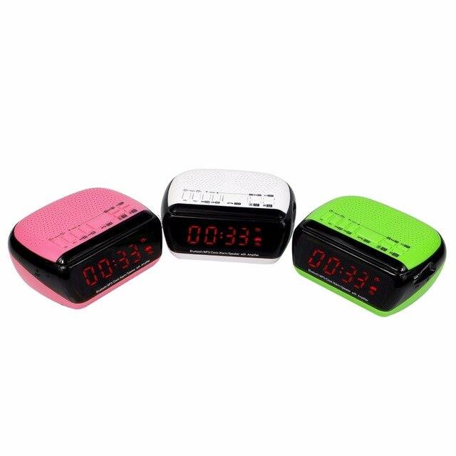 Цифровой Fm-радио с Bluetooth Динамик Двойной Радио Будильник с Таймером Сна Android APP Управления Радио FM Y4367