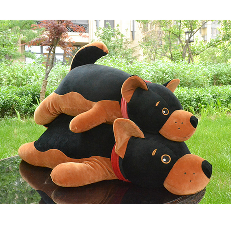 Fancytrader Big Simulated Plush Dog Toys Soft Stuffed Giant Black Puppy Doll Pillow 90cm 35inch Gifts for Children fancytrader biggest in the world pluch bear toys real jumbo 134 340cm huge giant plush stuffed bear 2 sizes ft90451