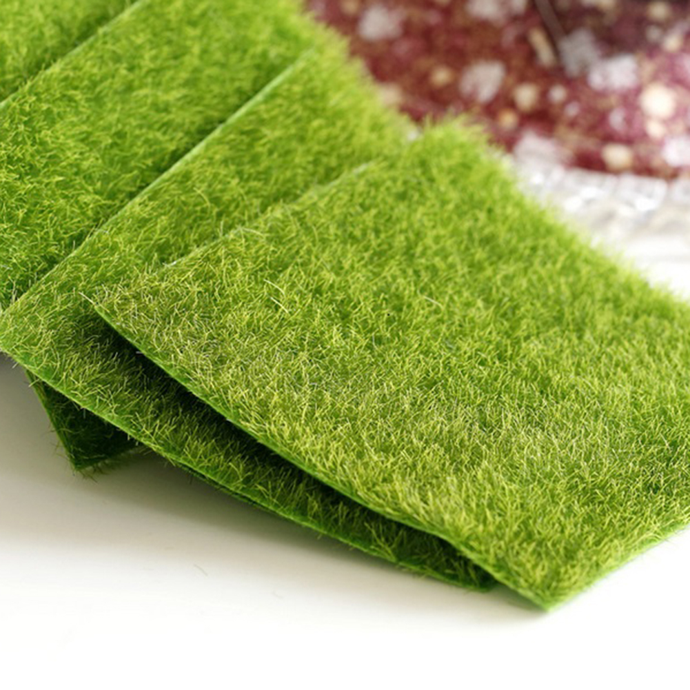 Artificial Grass Mat Plastic Lawn Green Synthetic Turf Miniature Garden Ornament for Dollhouse Tool