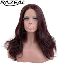 Razeal Collection Glueless Heat Resistant Synthetic Lace Front Wigs 150 Density Long Wavy Wigs Kanekalon