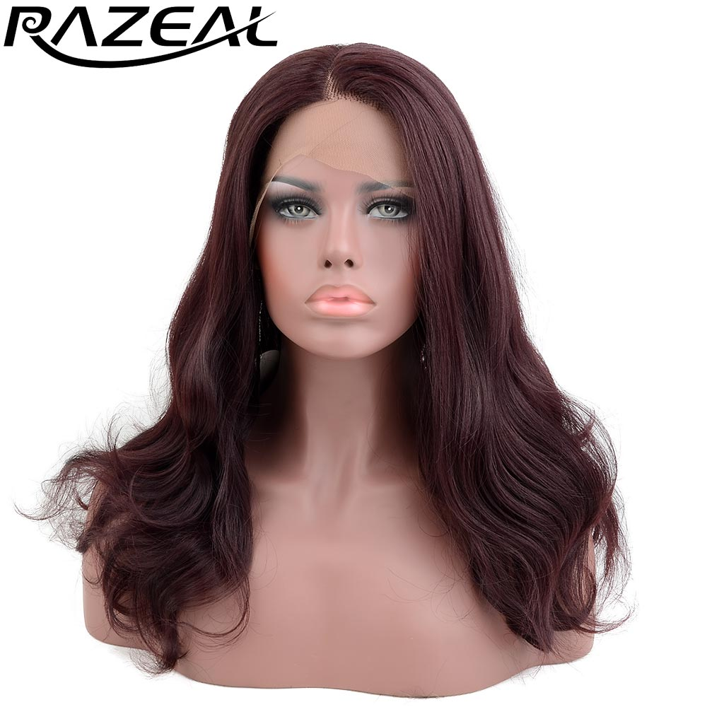 Razeal Collection Glueless Heat Resistant Synthetic Lace Front Wigs 150 Density Long Wavy Wigs Kanekalon ...
