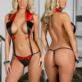 new Sexy Lingerie Women Underwear G-string Dress Sleepwear Jumpsuit Teddies Red XMAS