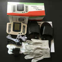 JR309A Electrical Stimulator Full Body Relax Muscle Therapy Massager Pulse Tens Acupuncture With Therapy Slipper 4pads