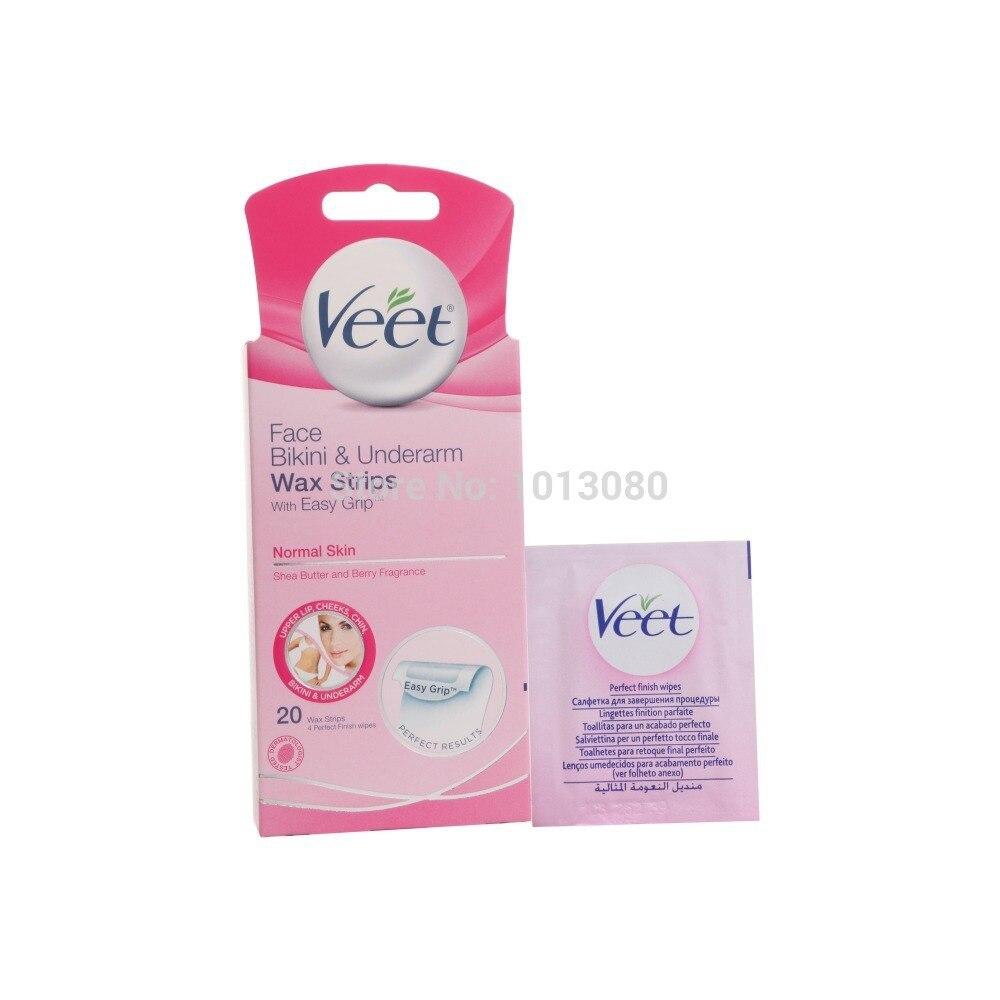 Veet Hair Removal Wax Strips Shea Butter Berry 20 Pcs Butter