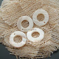20MM 80Pcs Natural Shell Beads Flat Round Shape Stone Earring Jewelry Bead