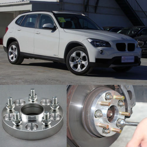 Teeze 4pcs New Billet 5 Lug 14*1.5 Studs Wheel Spacers Adapters For BMW X1 2010-2013 4pcs new billet 5 lug 14 1 5 studs wheel spacers adapters for bmw x5 e70 2007 2013