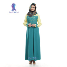 New Arrival Fashion Appliques long kaftan islamic abaya dress in dubai for women Diamonds decoration clothes turkey djellaba