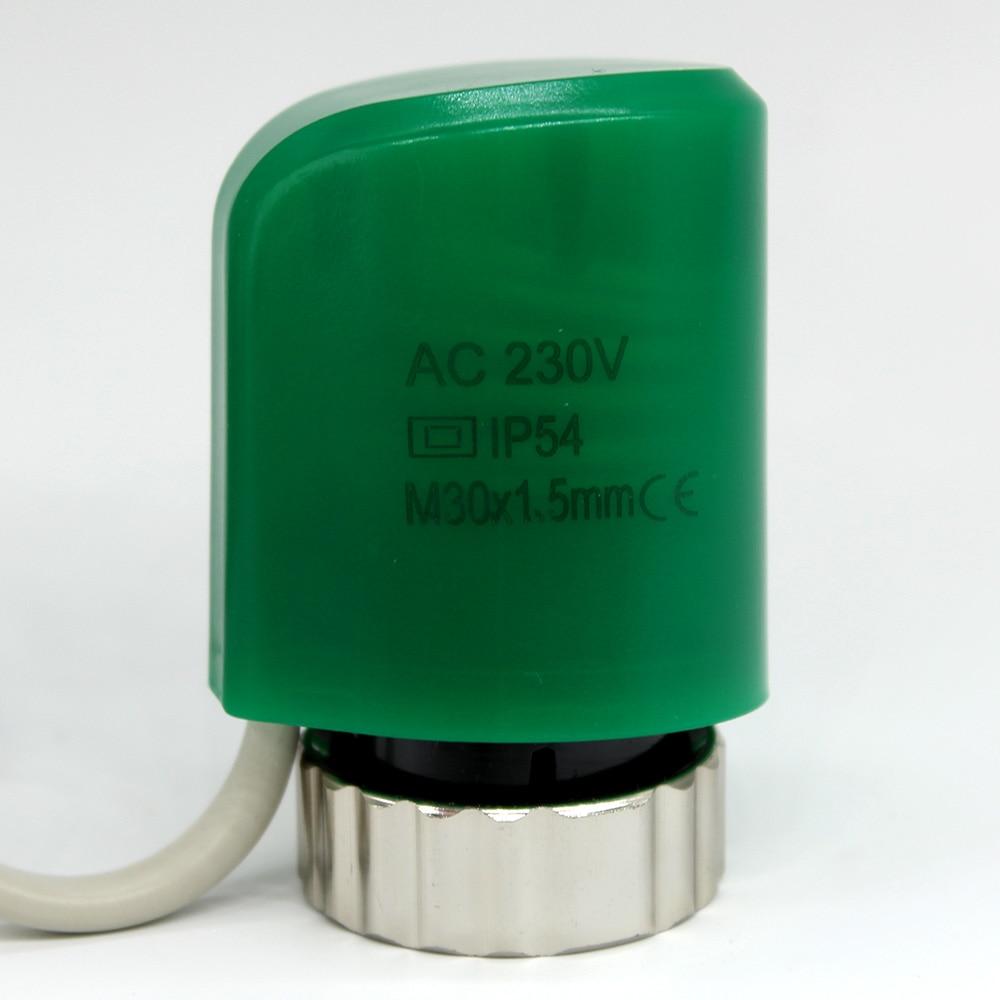 24 v 230 v schließer schließen Elektrische thermische stellglied für verteiler fußbodenheizung ventil calefaccion suelo radiante actuador