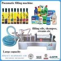 1000 5000ml Pneumatic Piston Liquid Filler Shampoo Gel Water Wine Milk Juice Vinegar Coffee Oil Drink