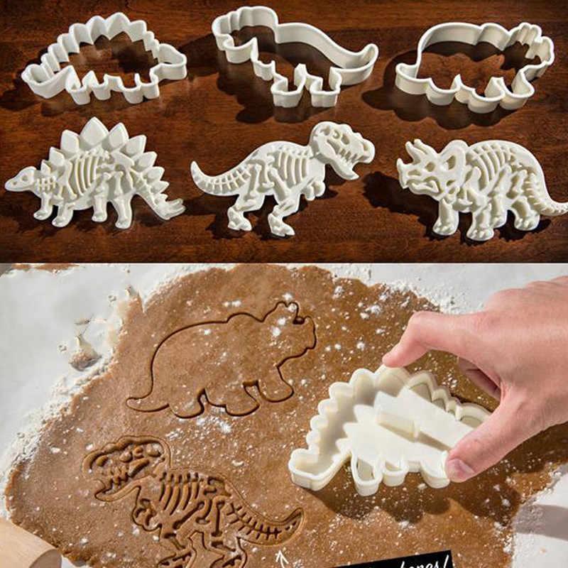 6 шт./лот 3D Динозавр формы для печенья Форма для бисквитов набор инструментов кухонные принадлежности Сахар ремесло жаропрочная посуда для десерта помадка торт украшения