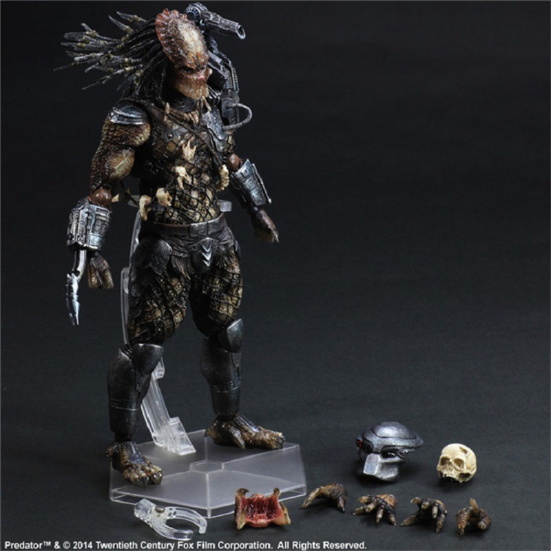 Tobyfancy Predator Action Figure Playarts Kai Anime Toys Alien Hunter Primevil PA Kai Generation 2 Predator 270mm Toy predator